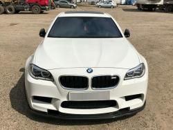 Накладка на передний бампер сплиттер BMW F10